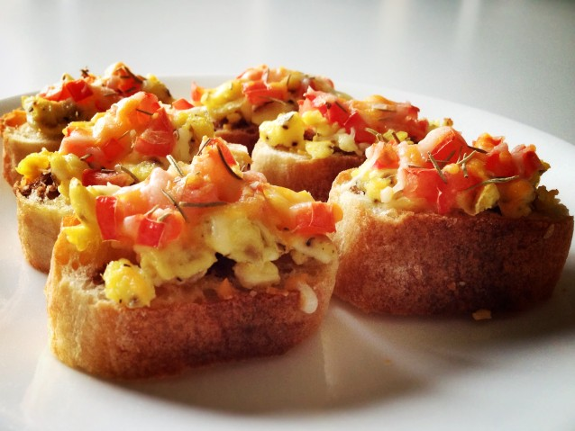 Savory Breakfast Bruschetta