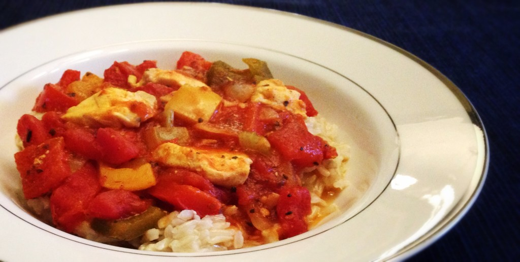 Stoplight Chicken Skillet with Rice