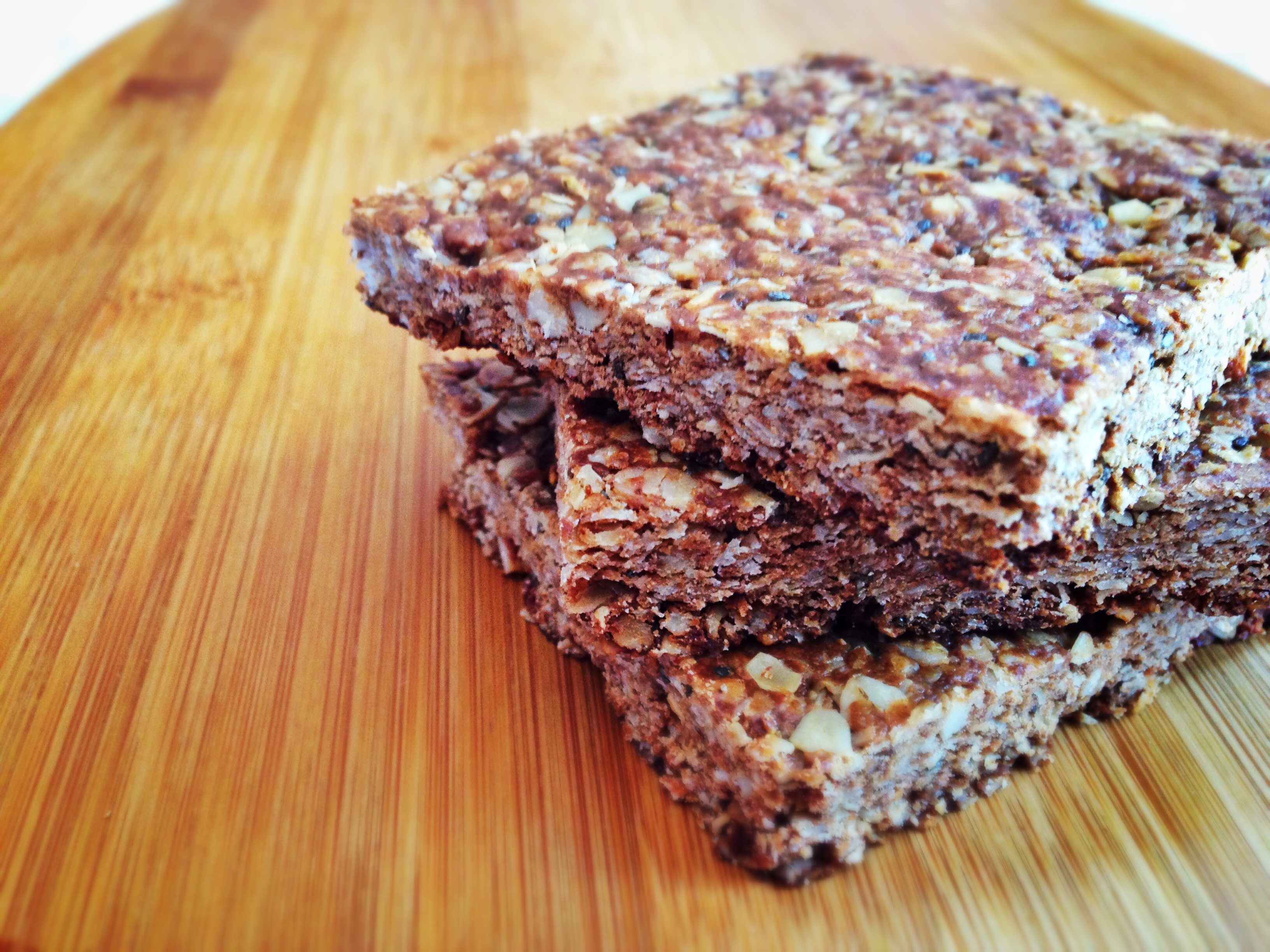 Chocolate Peanut Butter Six-Ingredient Granola Bars