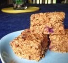 Banana Blueberry Oatmeal Bars