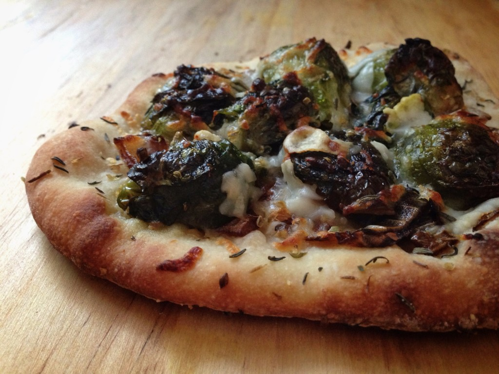 Roasted Brussel Sprout & Balsamic-Glazed Onion Pizza