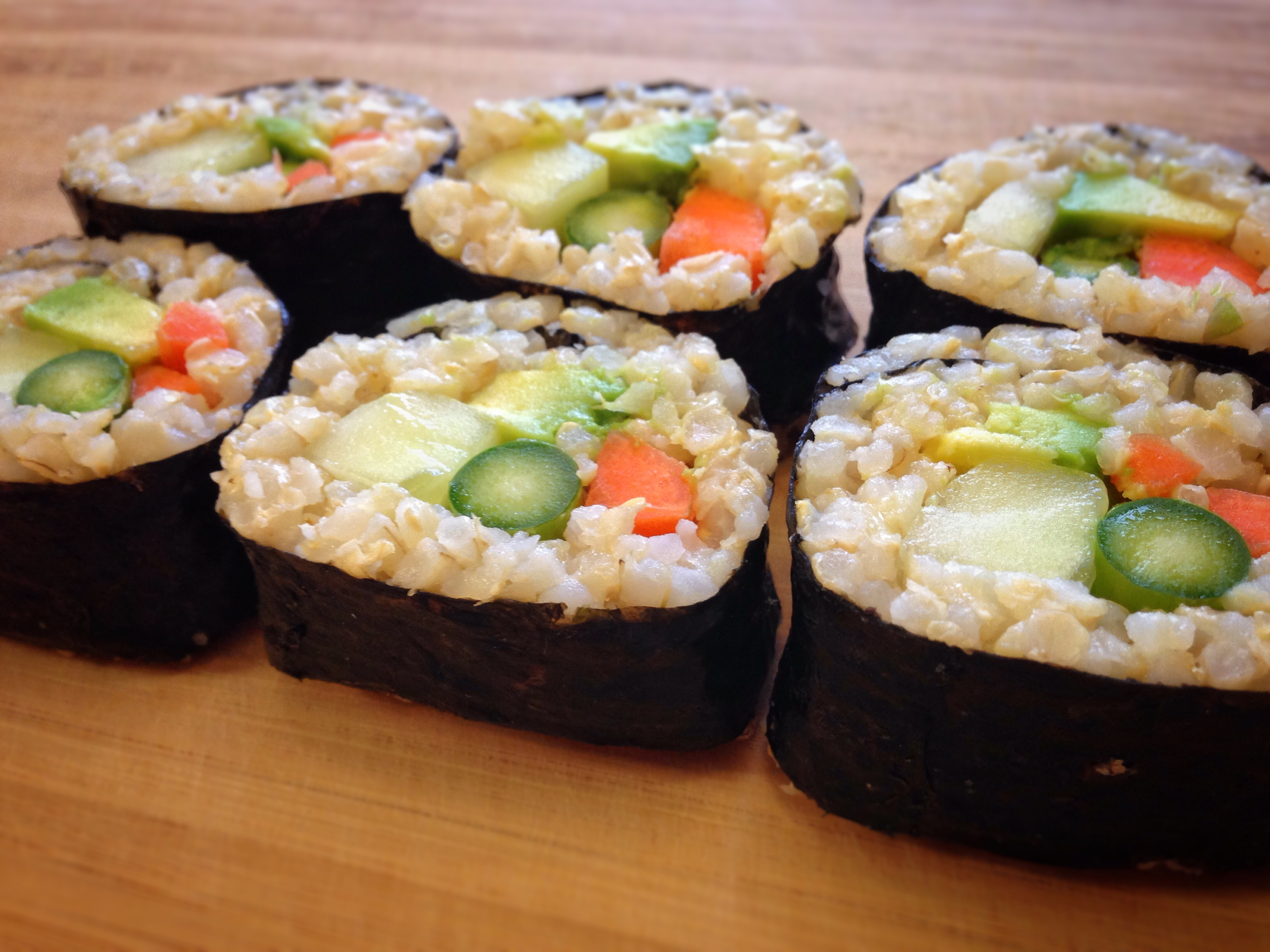 Vegetable Sushi Rolls – The Cordial Chef