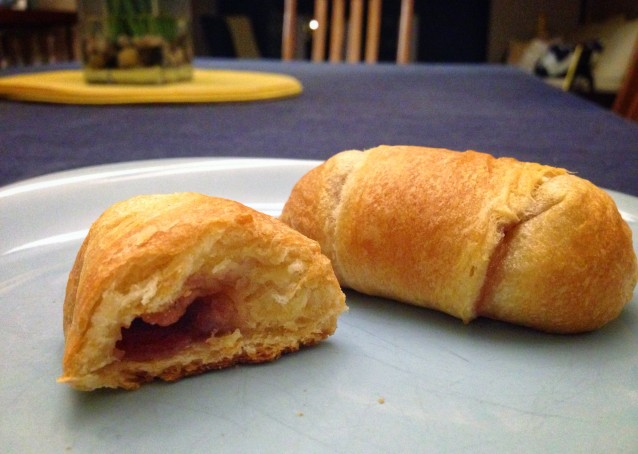 Brie and Jam Crescent Roll Bites