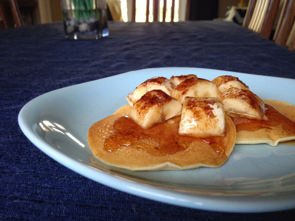 Broiled Brown Sugar Banana Pancakes