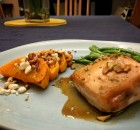 Maple-Glazed Chicken with Oven-Roasted Butternut Squash, Goat Cheese, & Pecans